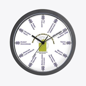 Where is it 5:00pm? EST edition Wall Clock