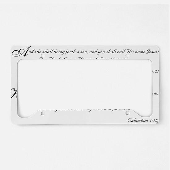 Bible Verses License Plate Holder