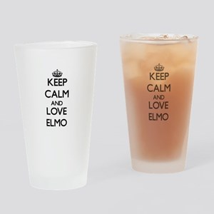 Keep Calm and Love Elmo Drinking Glass