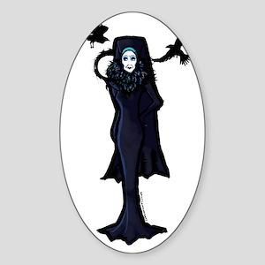 raven_clear copy Sticker (Oval)