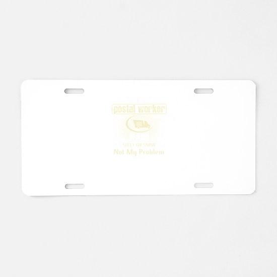 Retired Postal Worker Aluminum License Plate