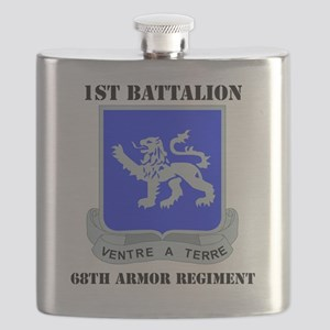 DUI - 1-68th Armor Regiment with Text Flask