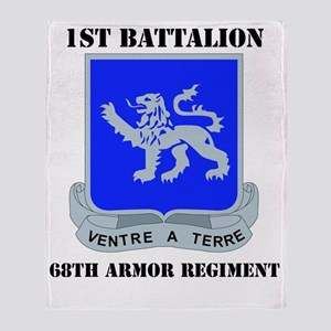 DUI - 1-68th Armor Regiment with Tex Throw Blanket
