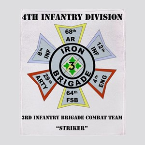 DUI-4TH IN DIV-3BCT WITH TEXT Throw Blanket