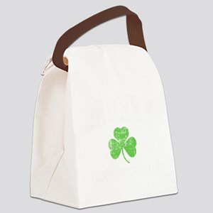 Drunky -blk Canvas Lunch Bag