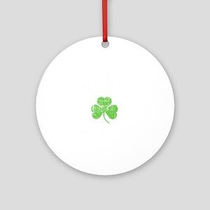 Drunky -blk Round Ornament