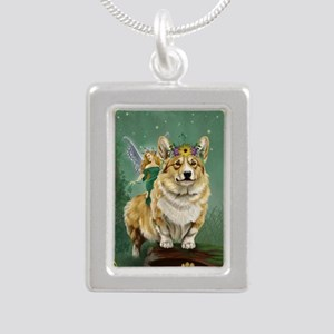 fairy steed Silver Portrait Necklace