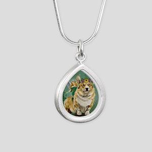 fairy steed Silver Teardrop Necklace