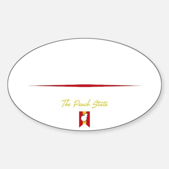 Atlanta Script B Sticker (Oval)