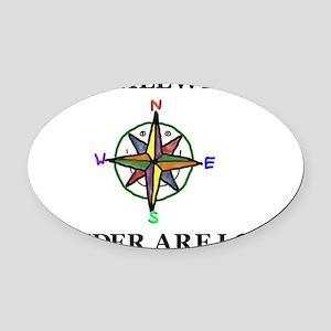 Wander Oval Car Magnet