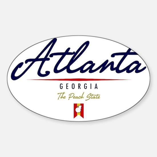 Atlanta Script W Sticker (Oval)