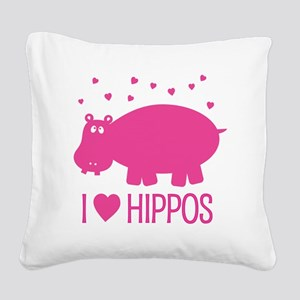 PinkHippo Square Canvas Pillow