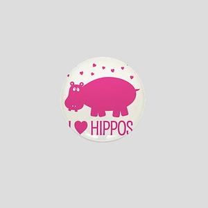 PinkHippo Mini Button