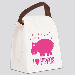 PinkHippo Canvas Lunch Bag