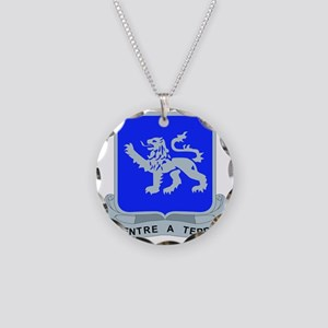 DUI - 68th Armor Regiment Necklace Circle Charm