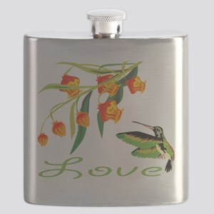 humming Bird Love Flask