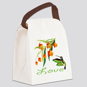 humming Bird Love Canvas Lunch Bag