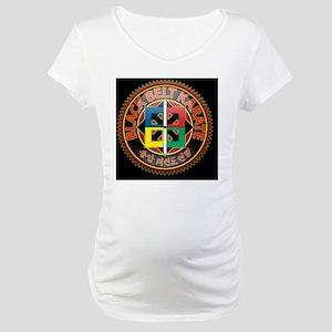 black_belt-on-blk Maternity T-Shirt