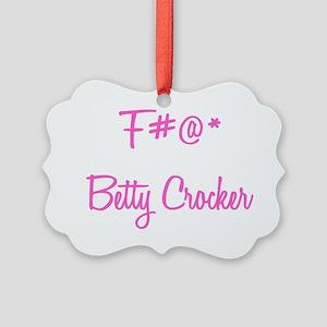 censored Betty Picture Ornament