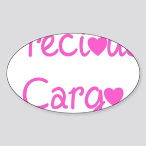 Precious Cargo black Sticker (Oval)