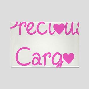 Precious Cargo black Rectangle Magnet