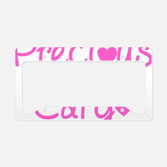 Precious Cargo black License Plate Holder