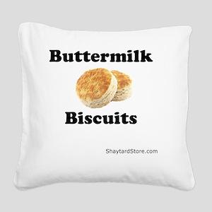 Buttermilk-Biscuits Square Canvas Pillow