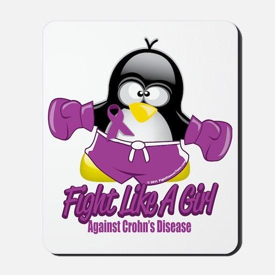 Crohns-Disease-Fighting-Penguin Mousepad