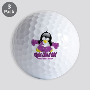 Crohns-Disease-Fighting-Penguin Golf Balls