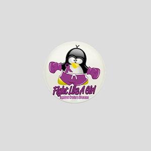 Crohns-Disease-Fighting-Penguin Mini Button
