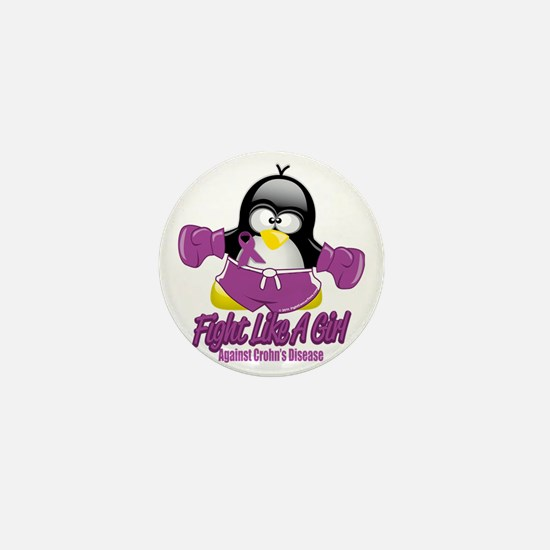 Crohns-Disease-Fighting-Penguin Mini Button
