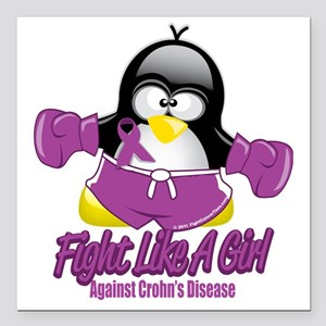 """Crohns-Disease-Fighting- Square Car Magnet 3"""" x 3"""""""