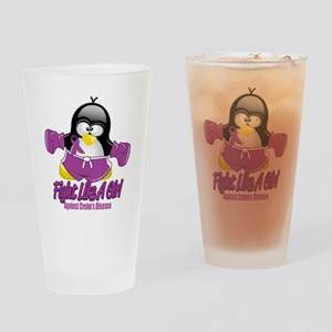 Crohns-Disease-Fighting-Penguin Drinking Glass