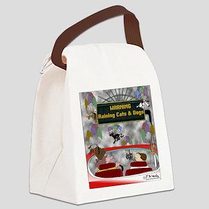 7882_dog_cartoon Canvas Lunch Bag