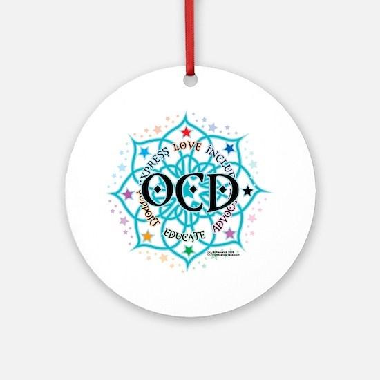 OCD-Lotus Round Ornament