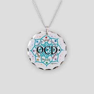 OCD-Lotus Necklace Circle Charm