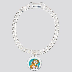 OCD-Cat-blk Charm Bracelet, One Charm