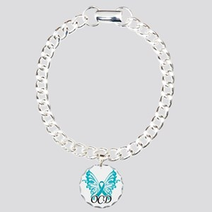 OCD-Butterfly-Ribbon Charm Bracelet, One Charm