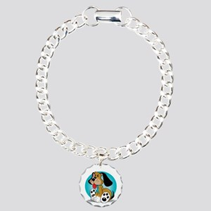 OCD-Dog-blk Charm Bracelet, One Charm