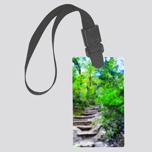 Stairway to the Pool Large Luggage Tag