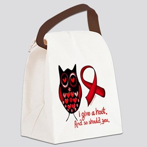 owl_give_a_hoot._aids Canvas Lunch Bag