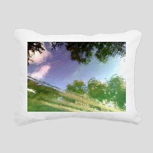 River Reflections Rectangular Canvas Pillow