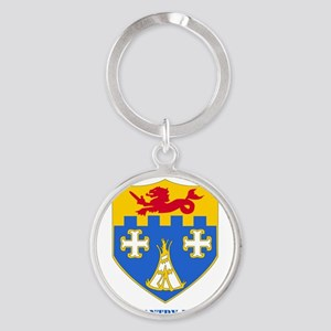2-12 IN RGT WITH TEXT Round Keychain
