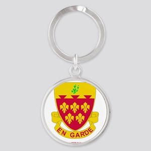 2-77 F A RGT WITH TEXT Round Keychain