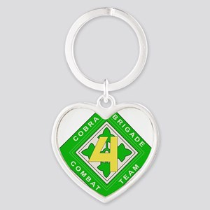 dui-4th in div-4th hbct Heart Keychain