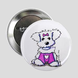Maltese Valentine Button