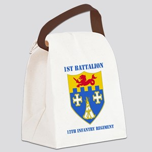 1-12 IN RGT WITH TEXT Canvas Lunch Bag