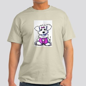 Maltese Valentine Ash Grey T-Shirt