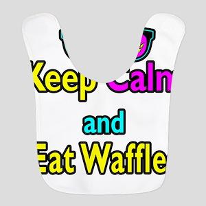 Crown Sunglasses Keep Calm And Eat Waffles Bib