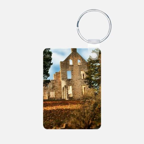 journal haha castle Keychains